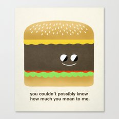 Cheesy Burger Canvas Print