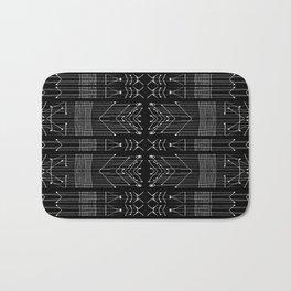 Black and White Tribal Bath Mat