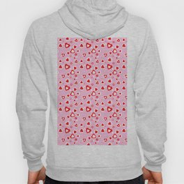 pattern of different shapes of hearts Hoody