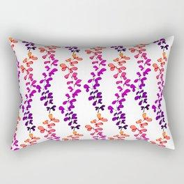 Multi-coloured leaves pattern Rectangular Pillow