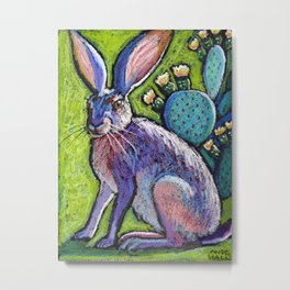 Blooming Jackrabbit Metal Print