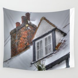 Winter Cottage Wall Tapestry