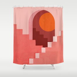 Abstraction_SUN_Architecture_Minimalism_001 Shower Curtain
