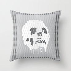 Skull Tile Throw Pillow