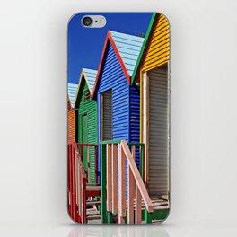Colors of South Africa, at the beach of St. James iPhone Skin