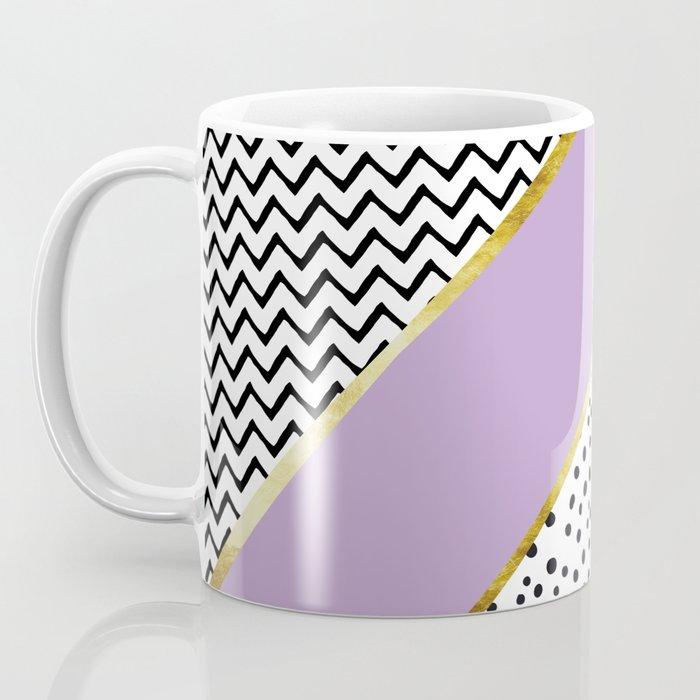 Happy Abstract | purple/cyan Coffee Mug