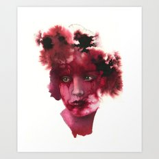 Blood Lady #2 Art Print