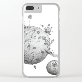 Post Human Planets Clear iPhone Case