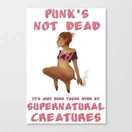 Punk Faun - Punk's Not Dead... Canvas Print