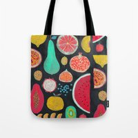 fruit Tote Bags featuring Fruit by Mouni Feddag