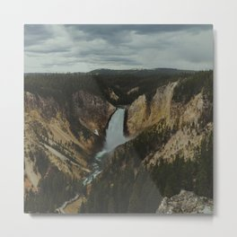 Yellowstone National Park Falls Metal Print
