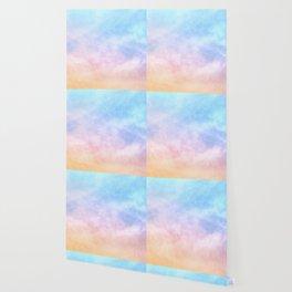 Pastel Rainbow Watercolor Clouds Wallpaper