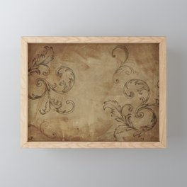 Rustic French Scroll Framed Mini Art Print