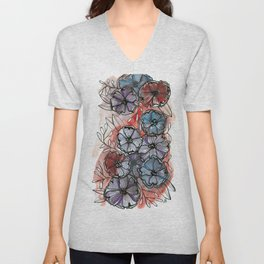 Pocketfull of Posies Unisex V-Neck