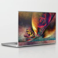 planets Laptop & iPad Skins featuring Flower Planets by Klara Acel