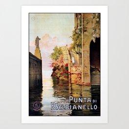 1920 Romantic Lenno Lake Como Art Print