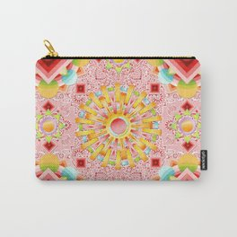 Pink Paisley Sunshine Carry-All Pouch