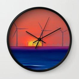 Windmills to the Sun Wall Clock