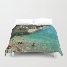 Dreaming of the French Riviera. Duvet Cover