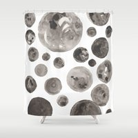 planets Shower Curtains featuring Planets by Dreamy Me