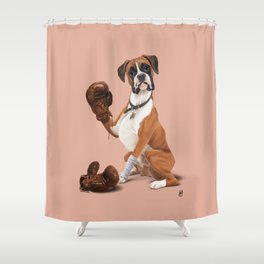 The Boxer (colour) Shower Curtain