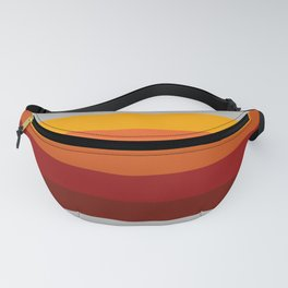 Light Gray & Orange Rainbow Stripes Fanny Pack