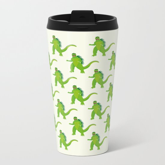 Godzilla pattern Metal Travel Mug
