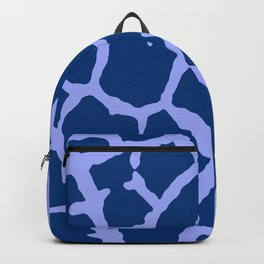 Blue Giraffe Print Backpack