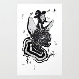 Black psicodelicus Art Print