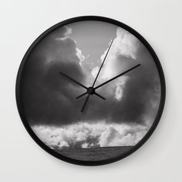 Dramatic Clouds Photograph Wall Clock