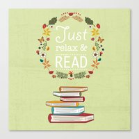 read Canvas Prints featuring Read by Kakel