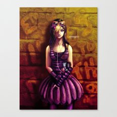 emo girl Canvas Print
