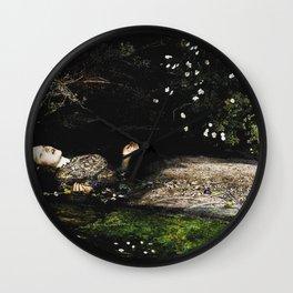 Ophelia - Shakespeare - Millais Wall Clock