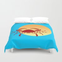 cancer Duvet Covers featuring Cancer by Geni