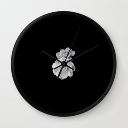Black and White Roses Wall Clock