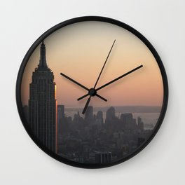 Empire State Building at sunset Wall Clock