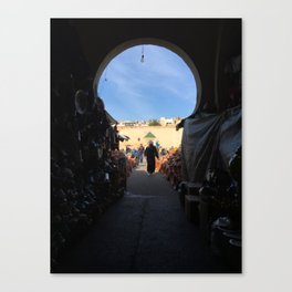 Shopping in Meknes Canvas Print