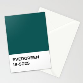 Evergreen Pantone Chip • Pine Forest • Nature • Earth Day • Green • Eco • Sustainable • Good Design  Stationery Cards