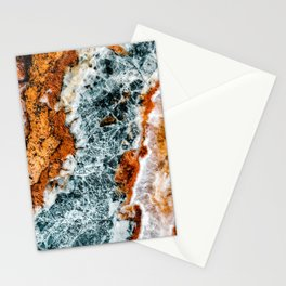 Abstract Aerial Landscape, River Marble, Modern Marble Print, Luxury Geometric Art, Minimal Scandinavian Abstract Pattern Stationery Cards