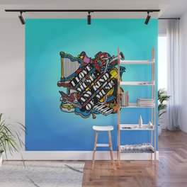 I love music, any kind of music Wall Mural