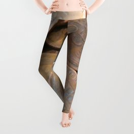 Watercolor Coins, Lincoln Wheat Pennies, One Cent 01 Leggings