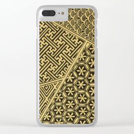 Japanese Patterns Clear iPhone Case
