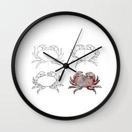Evolution d'un crabe Wall Clock