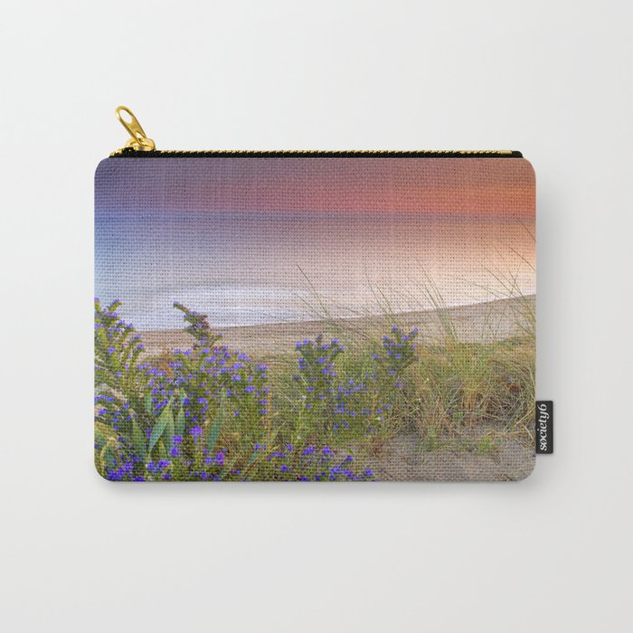 """""""Purple flowers at the sea sunset"""" Carry-All Pouch"""