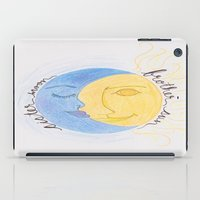 sun and moon iPad Cases featuring Brother Sun Sister Moon by Hayley Lang