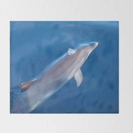 Dolphin and dreams Throw Blanket
