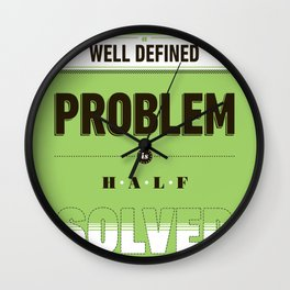 Well defined problem Wall Clock