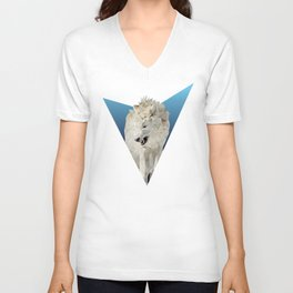 Low Poly Wolf Unisex V-Neck