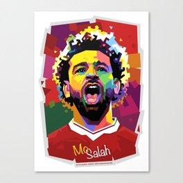Mo Salah WPAP Canvas Print