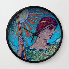 Minerva Goddess Of Wisdom Wall Clock